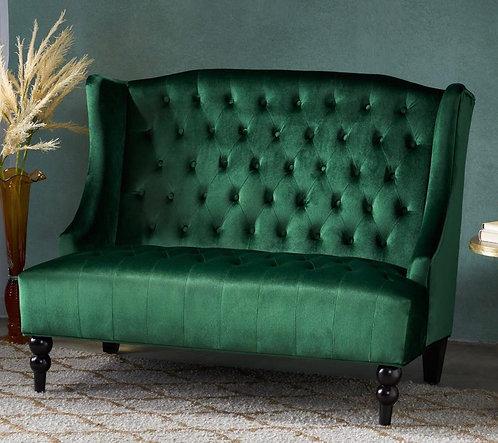 Emerald Green Velvet Settee