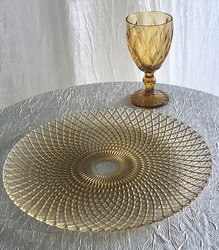 Gold Kaleidoscope Glass Charger