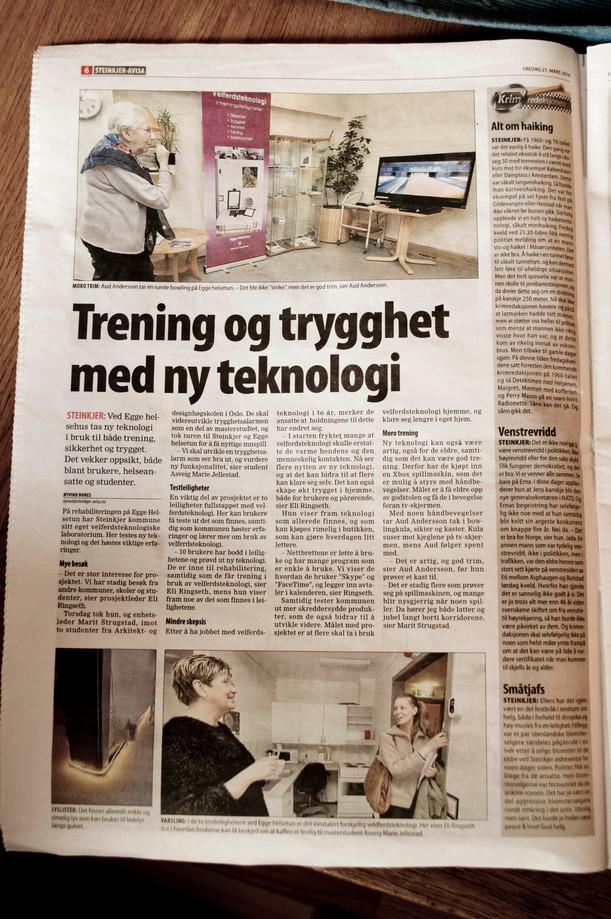 Steinkjer Avisa | Trening og trygghet med ny teknologi