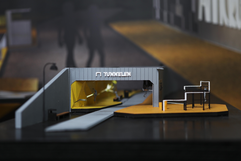 3D-printed model