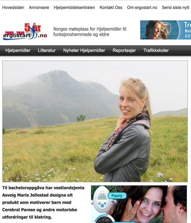 Ergostart.no | Designstudent motiverer barn med CP til trening