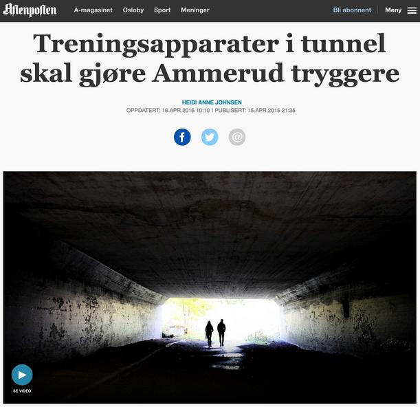 Aftenposten | Treningsapparater i tunnel skal gjøre Ammerud tryggere