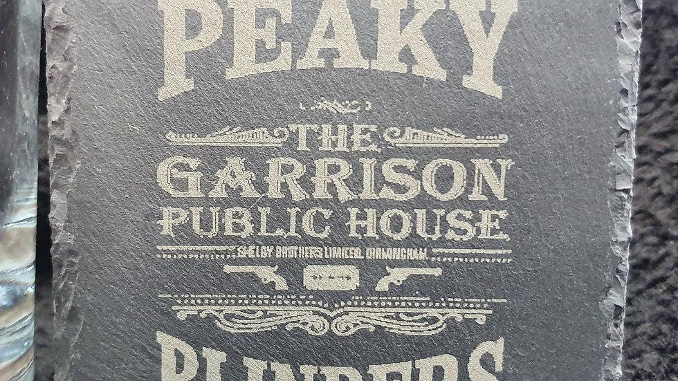 Peaky Blinders Garrison Slate Coasters 10cm x 10cm