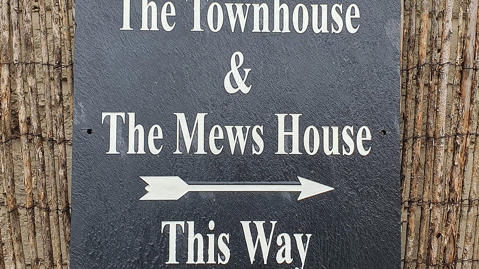 Slate House Sign 40cm x 40cm Plaque Deep Engraved Painted Personalised