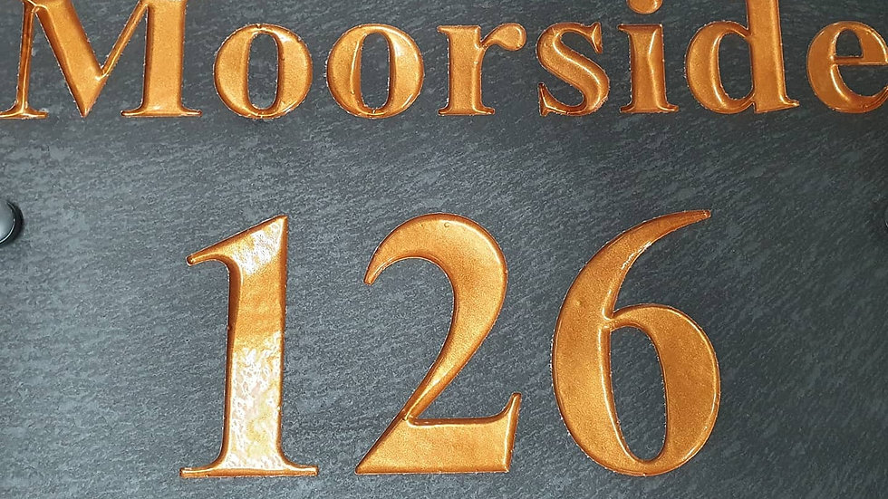 Slate House Sign Large Plaque Deep Engraved Painted 60cm x 30cm Personal