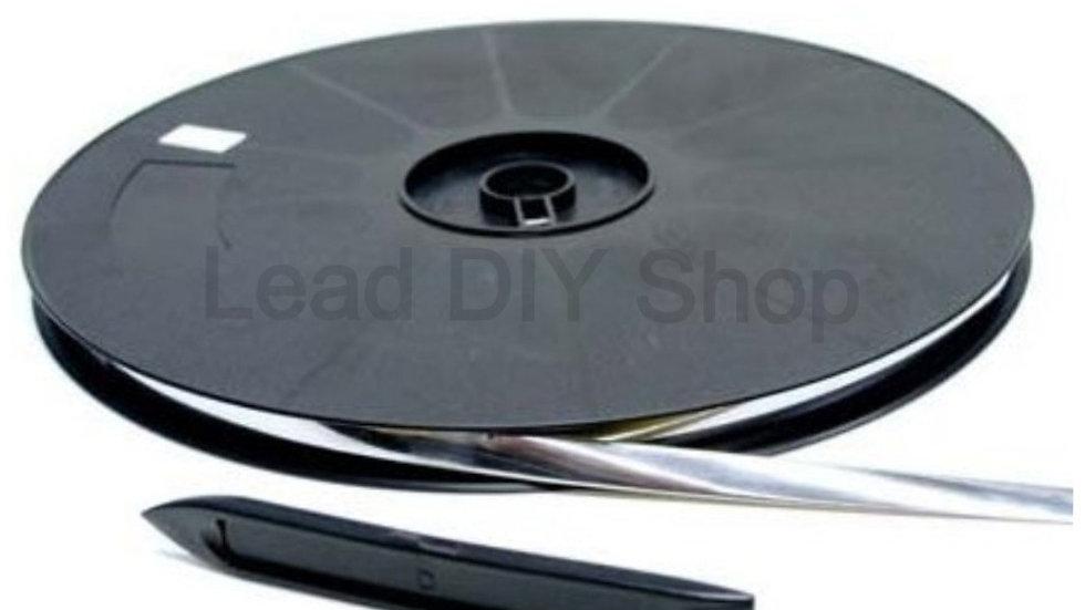 Natural flat self adhesive lead strip window lead
