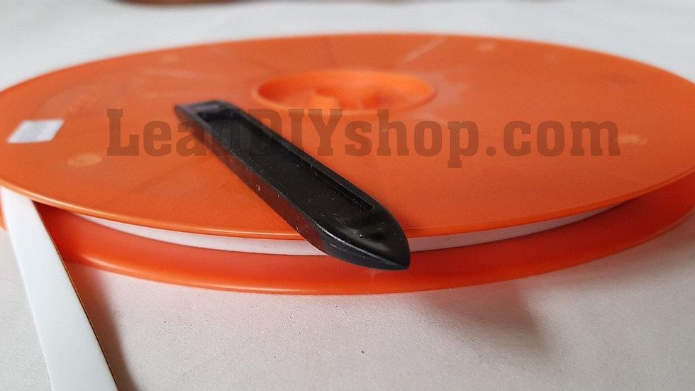 White self adhesive lead strip window lead