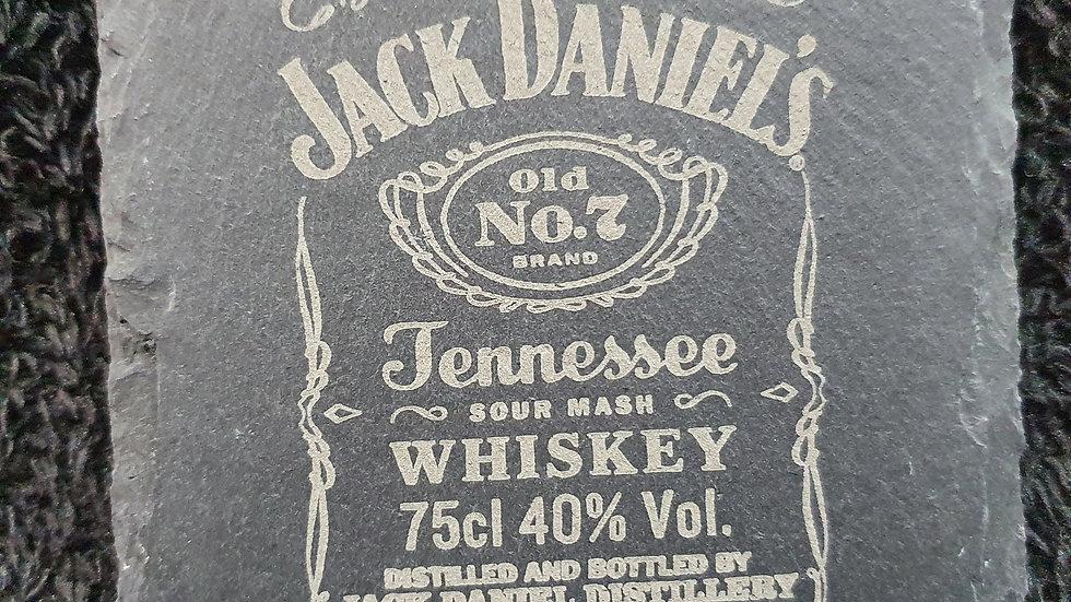 Jack Daniel's Old No7 Whisky Slate Coasters 10cm x 10cm