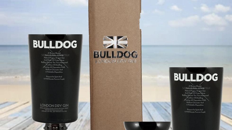 Bulldog Gin Upcycled Glass Gift Sets handmade glass set or chalice