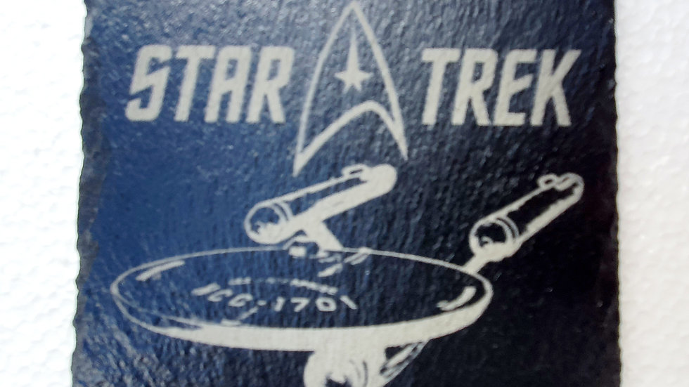 Star Trek Slate Coasters 10cm x 10cm