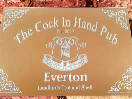 Pub shed mirrors personalised