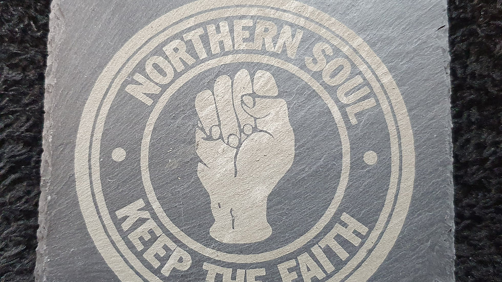 Northern Soul Slate Coasters 10cm x 10cm