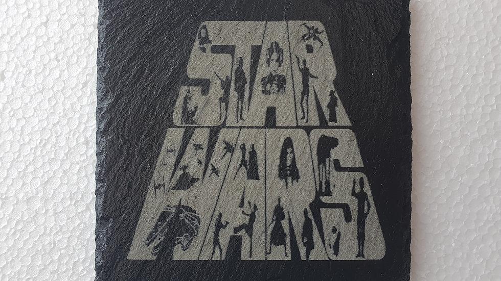 Star Wars Slate coasters 10cm x 10cm