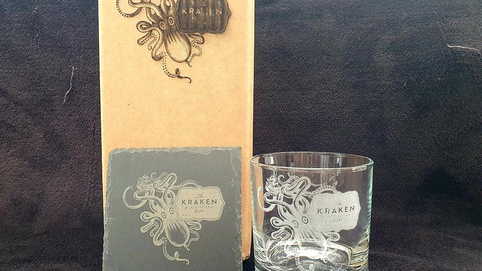 Kraken Tumbler gift box set can be personalised