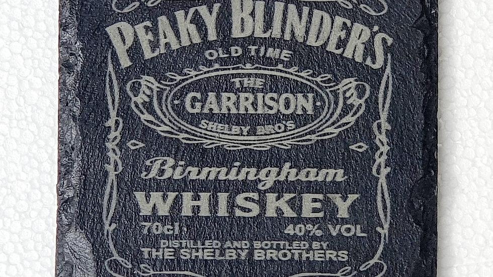 Peaky Blinders Whisky Slate Coasters 10cm x 10cm