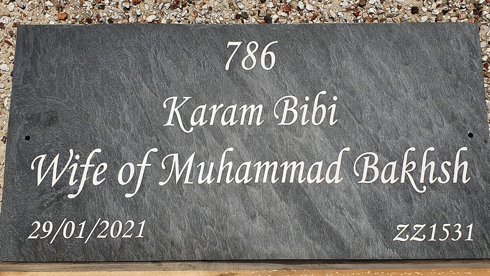 Slate House Sign 60cm x 30cm Plaque Deep Engraved Painted Personalised