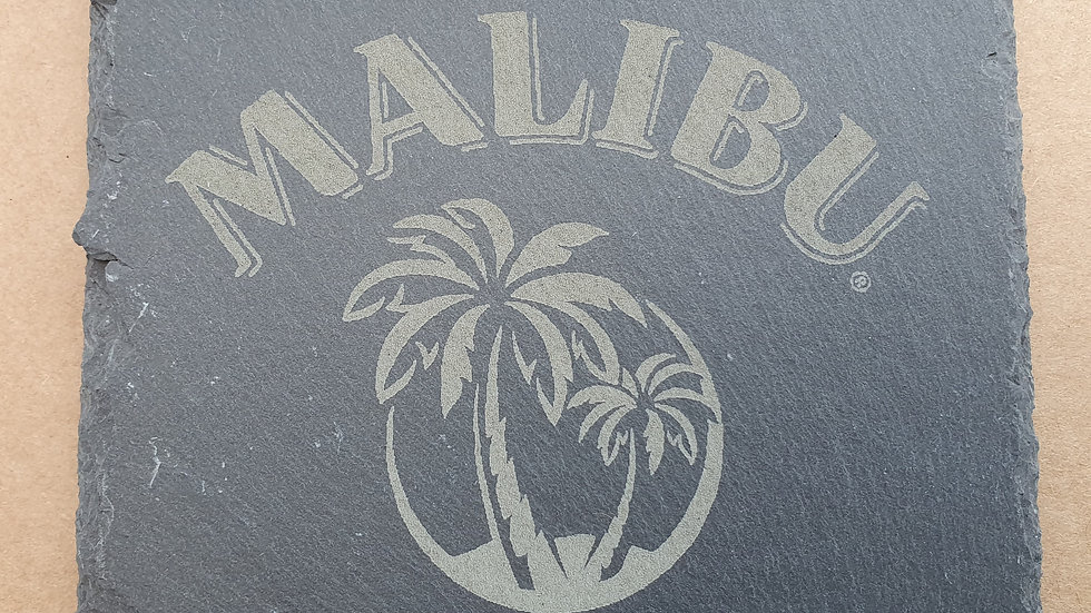 Malibu Slate coasters 10cm x 10cm