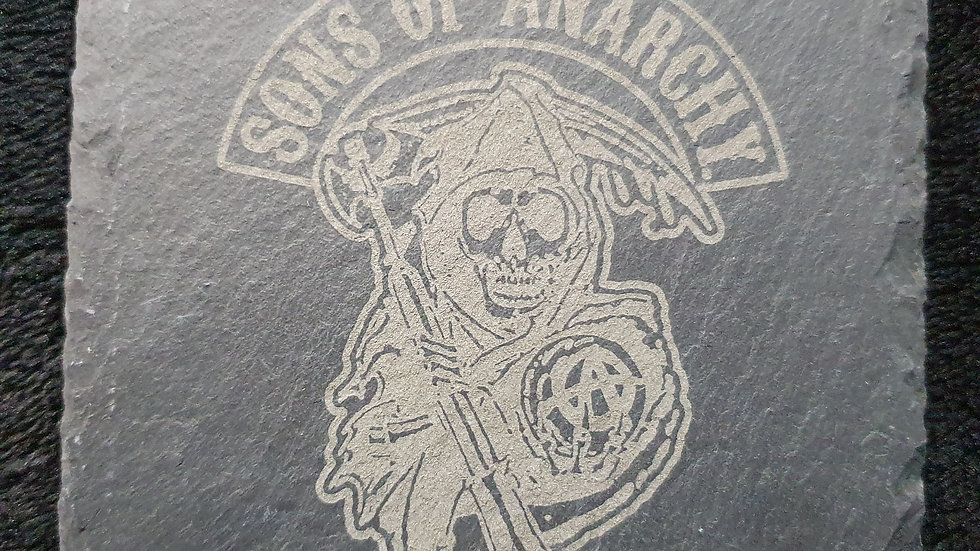 Sons of Anarchy Reaper Slate Coasters 10cm x 10cm