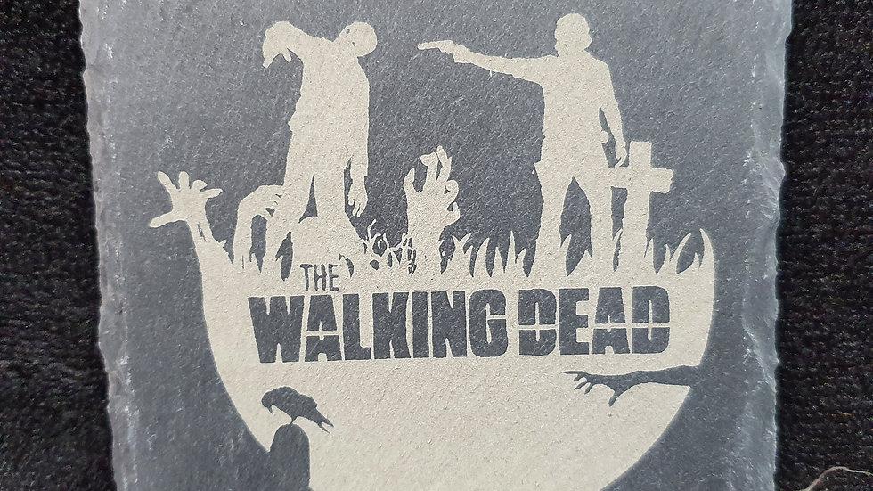 Walking Dead Slate coasters 10cm x 10cm