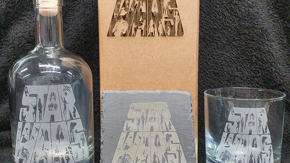 Star Wars decanter gift box set can be personalised present