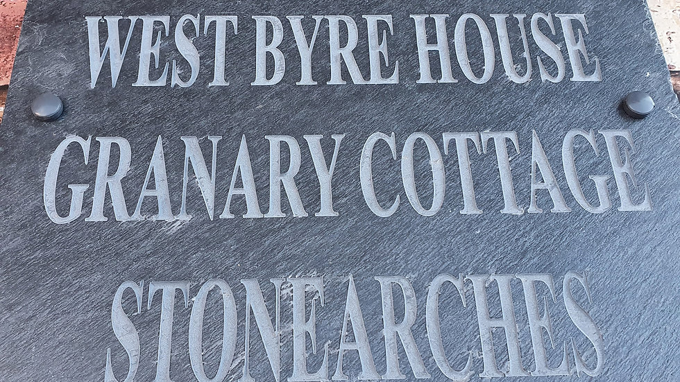 Slate House Sign 40cm x 40cm Large Plaque Deep Engraved Personalised