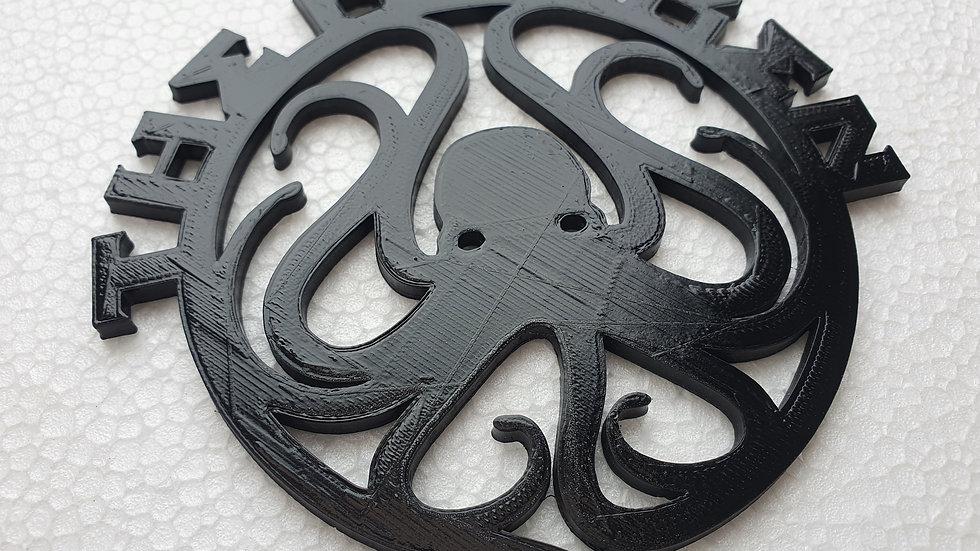 Kraken  Coasters 11.5cm x 11.5cm 3d printed