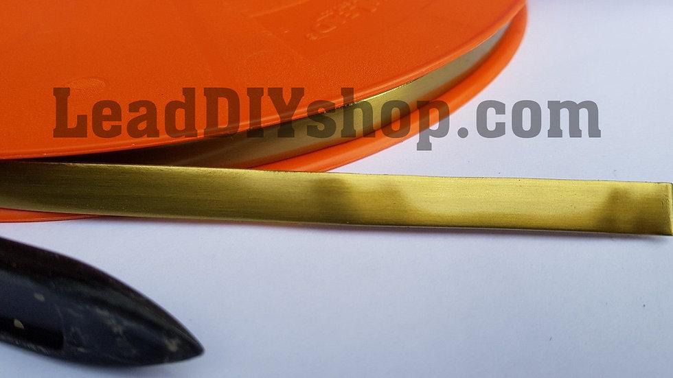 Satin Brass self adhesive lead strip window lead