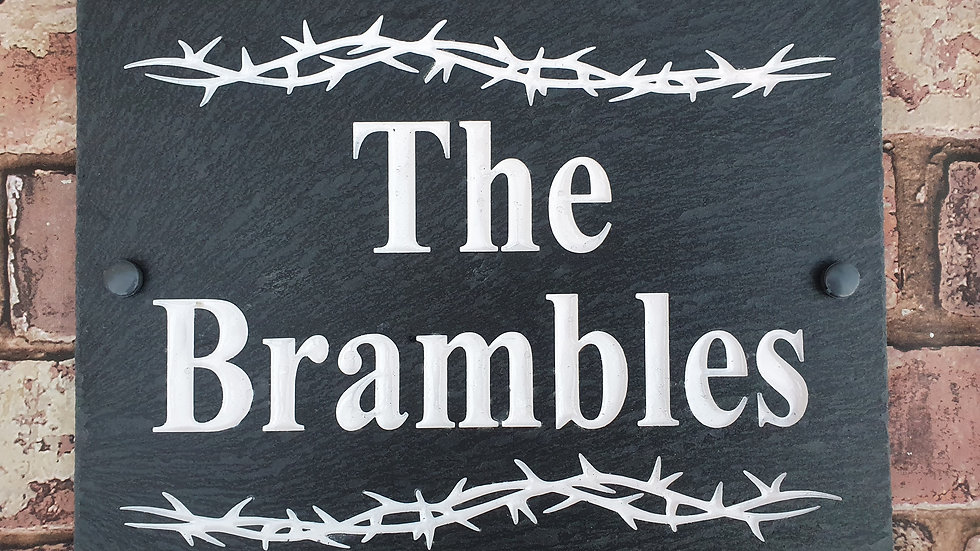 Slate House Sign 29cm x 21cm Plaque Deep Engraved Painted Personalised