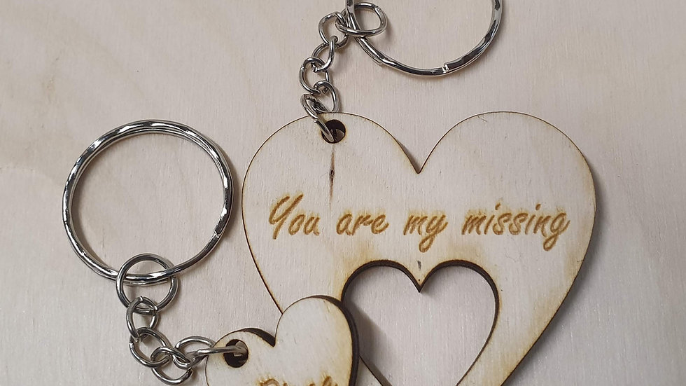 Romantic Loveheart Personalised keyring Valentine/Anniversary/Birthd