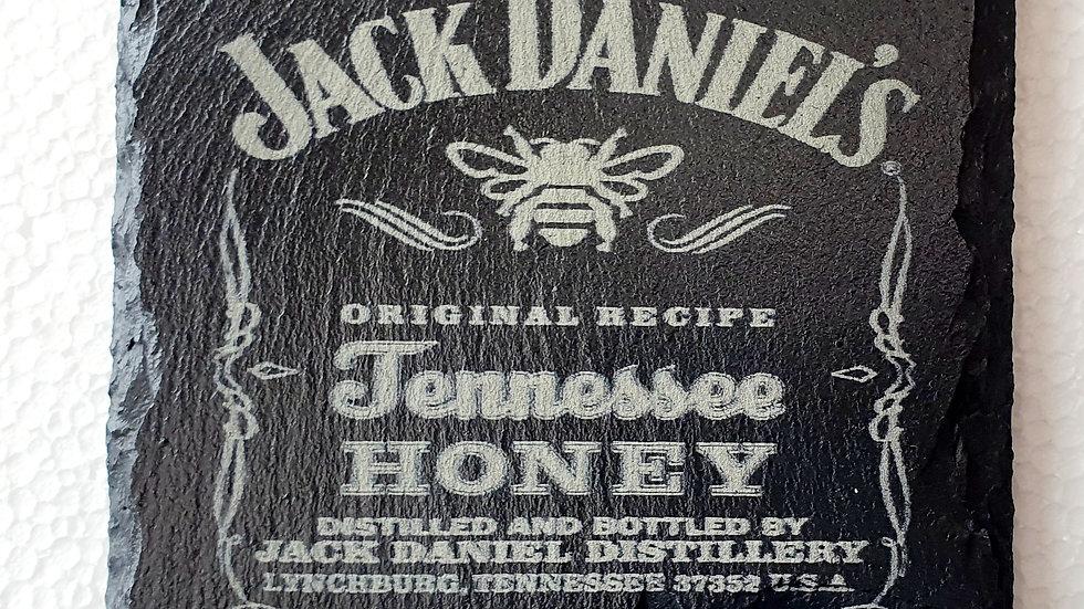 Jack Daniel's Honey Whisky Slate Coasters 10cm x 10cm