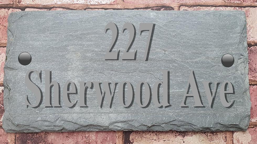 Slate House Sign Green/grey Westmoorland Slate Deep Engraved natural or painted