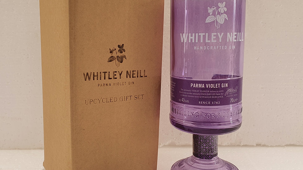 Whitley Neill Parma Violet Gin Bottle Gift Box Set Upcycled Glass handmade