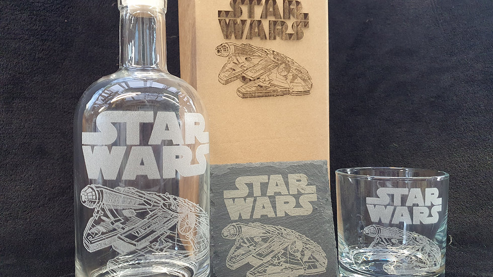 Star Wars Millennium Falcon gift box set can be personalised