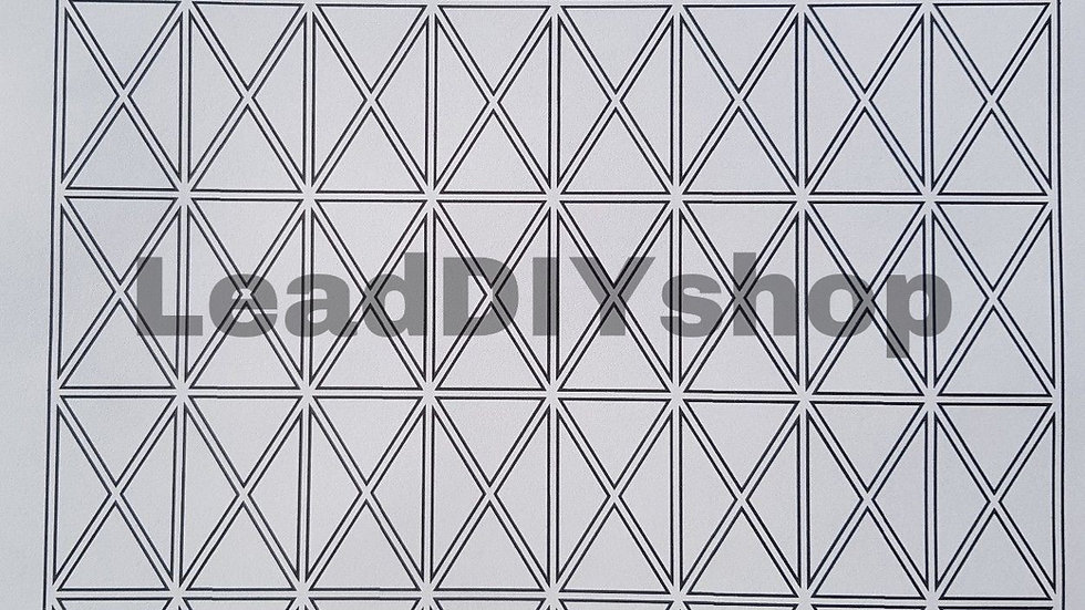 Leading templates 125mm x 200mm grid size