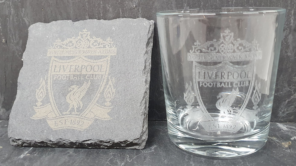 Create Your Own Personalised Engraved Tumbler and Slate Coaster