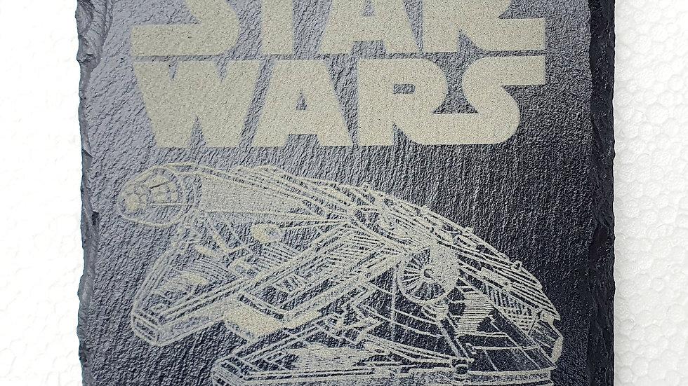 Star Wars Millennium Falcon Slate coasters 10cm x 10cm
