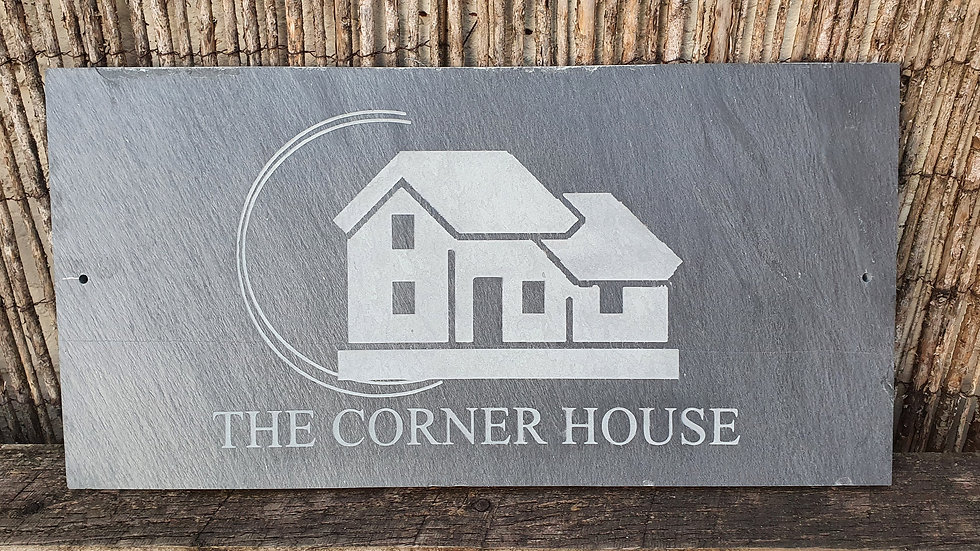 Slate House Sign 60cm x 30cm Plaque Deep Engraved Large Personalised