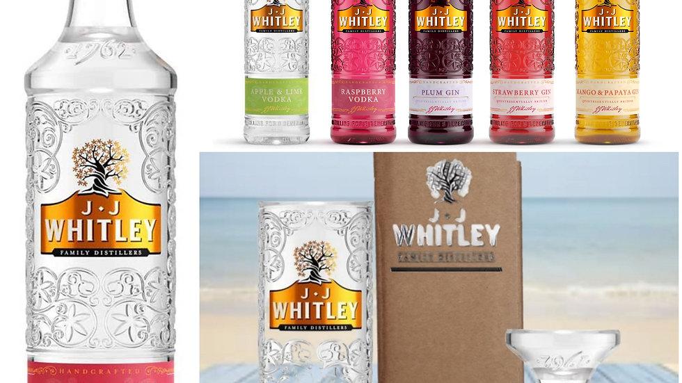 JJ Whitley Gin Glasses all colours Gift Box Set Upcycled Glass handmade
