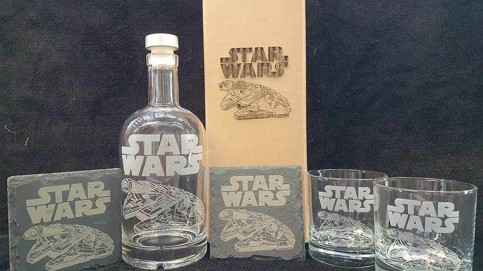Star Wars Millennium Falcon gift box set for 2 can be personalised