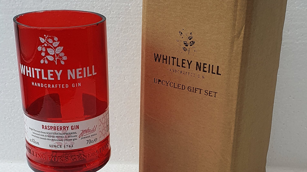 Whitley Neill Gin Bottle Gift Box Set Upcycled Glass handmade