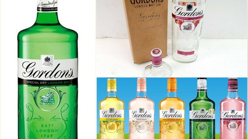 Gordons Gin Bottles all types Upcycled Glass Gift Set handmade