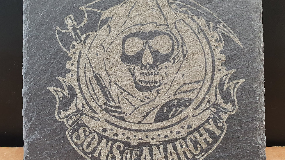 Sons of Anarchy Slate Coasters 10cm x 10cm