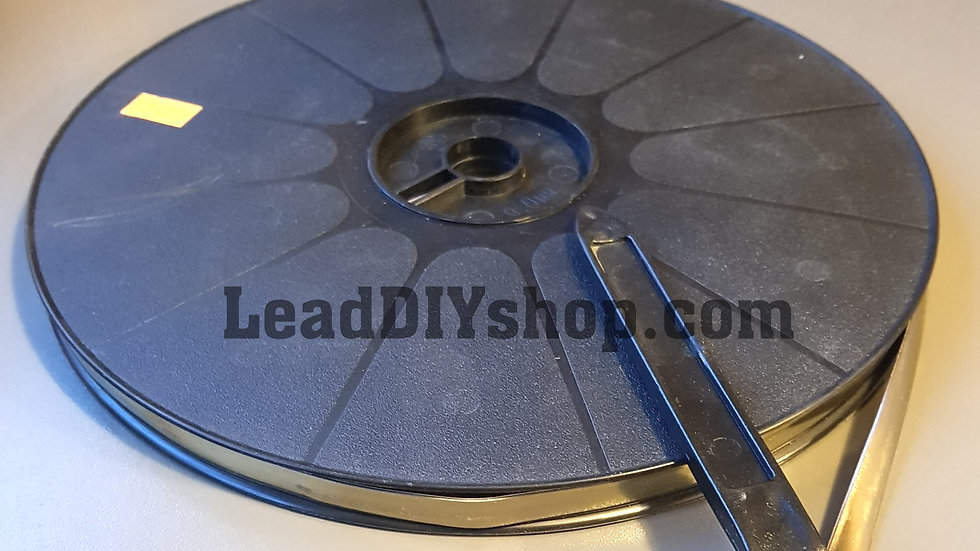 Brass self adhesive lead strip window lead