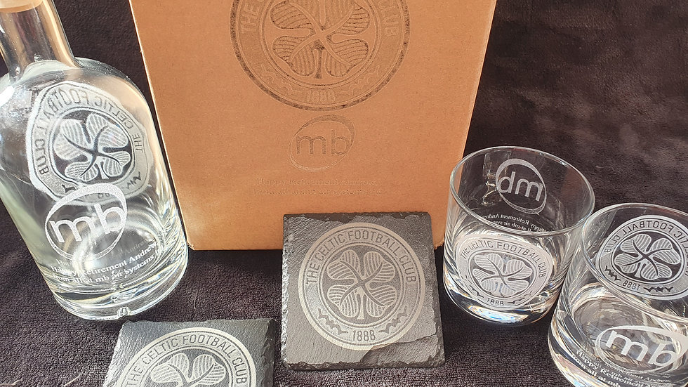 Decanter gift box set for 2 with your unique personalised design present gift