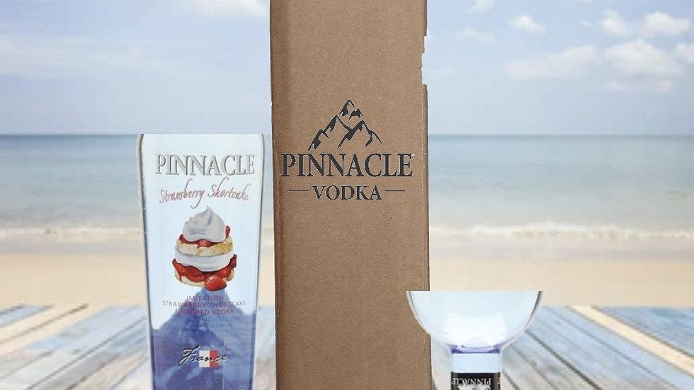 Pinnacle Vodka Bottle Gift Box Set Upcycled Glass handmad