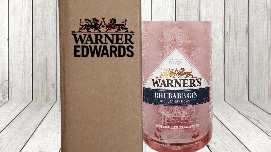 Warner Edwards Gin Bottle Gift Box Set Upcycled Glass handmade