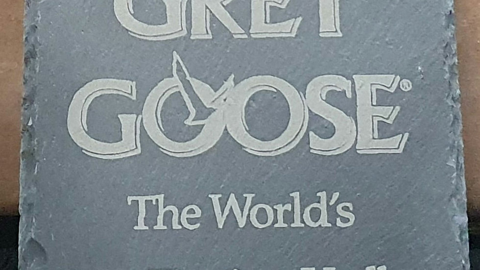 Grey Goose Slate coasters 10cm x 10cm