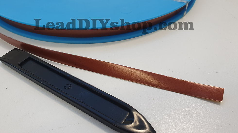 Copper self adhesive lead strip window lead