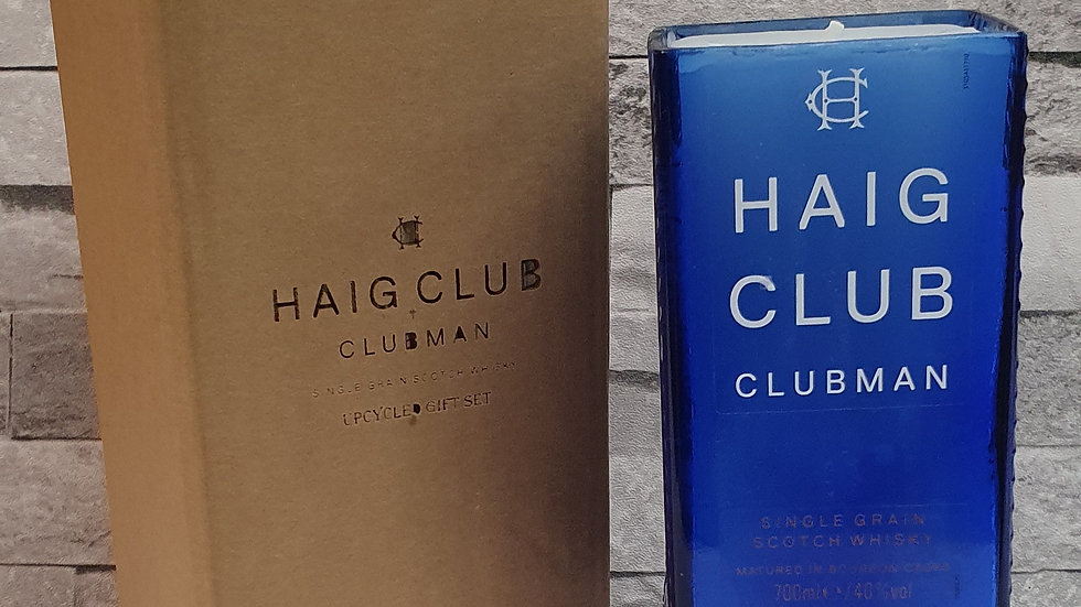 Upcycled Haig Club bottle candle Gift Box Set vanilla and coconut handmade