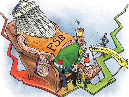 Which two banks are likely candidates for privatization along with IDBI bank as per Union Budget ???